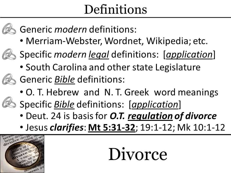 Matthew 5:31-32 (31) Furthermore it has been said, Whoever divorces his wife, let him give her a certificate of divorce.