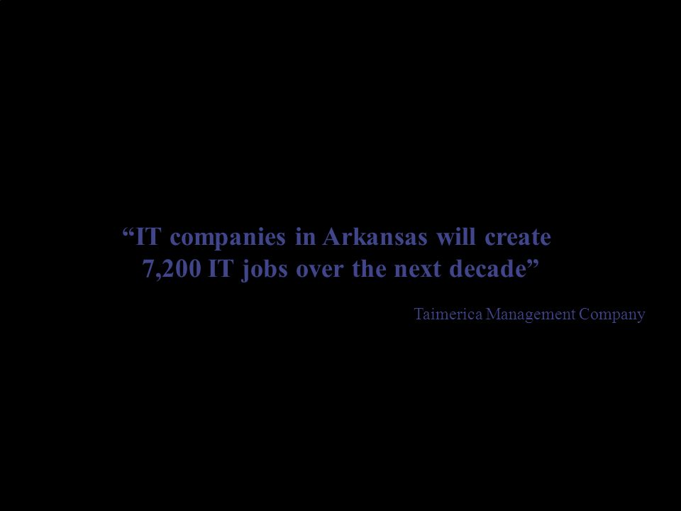 Half the growth in IT jobs is expected in Central Arkansas, the primary market of UALR.