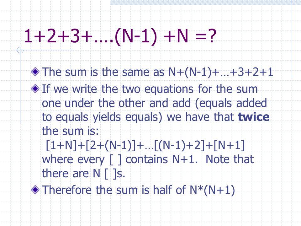 S N =N(N+1)/2 What is 101+102+103+…+199+200.