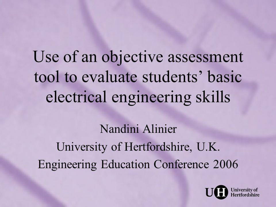Overview Background & origins Application in an Engineering context Stages of OSTE –Development of stations –Preparation for sessions –Pilot –Implementation My perspective Students perspective Reflections Nandini Alinier, EE2006, 25 July, Liverpool, U.K.