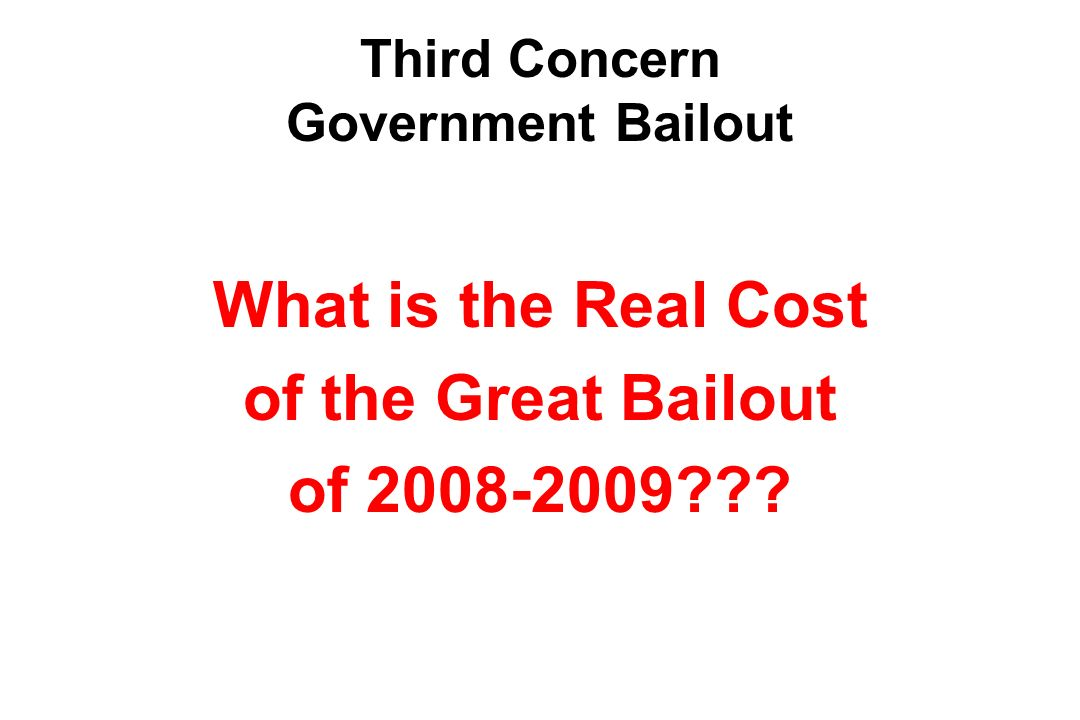 Possible Impacts Inflation Interest Rates Social Security and Medicare Economic Freedom –Government funds typically come with strings attached –Government dominated economies tend to have slower economic growth