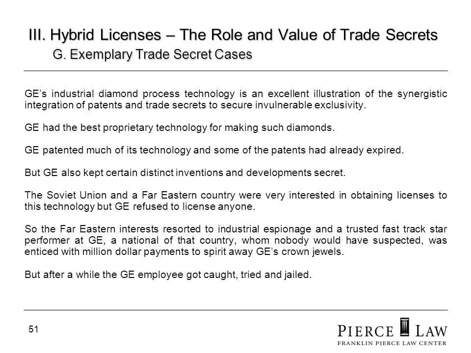 52 III.Hybrid Licenses – The Role and Value of Trade Secrets G.