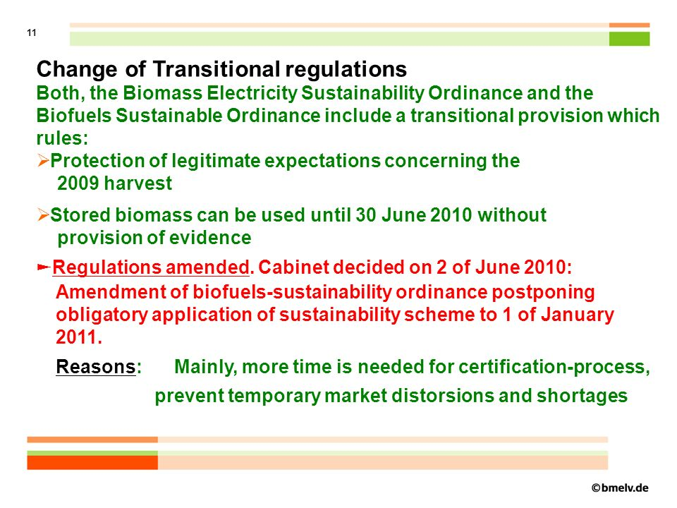 12 Where are we now - implementing the biomass- sustainability certification.