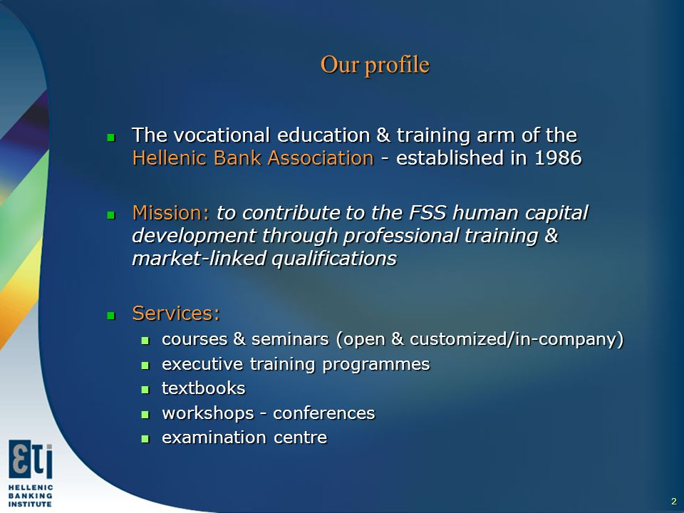 3 The HBI educational pyramids A - Z services for the entire FS sector