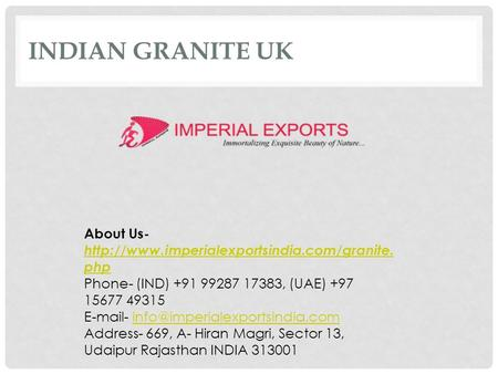 INDIAN GRANITE UK