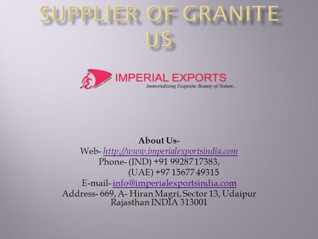 Supplier of Granite US