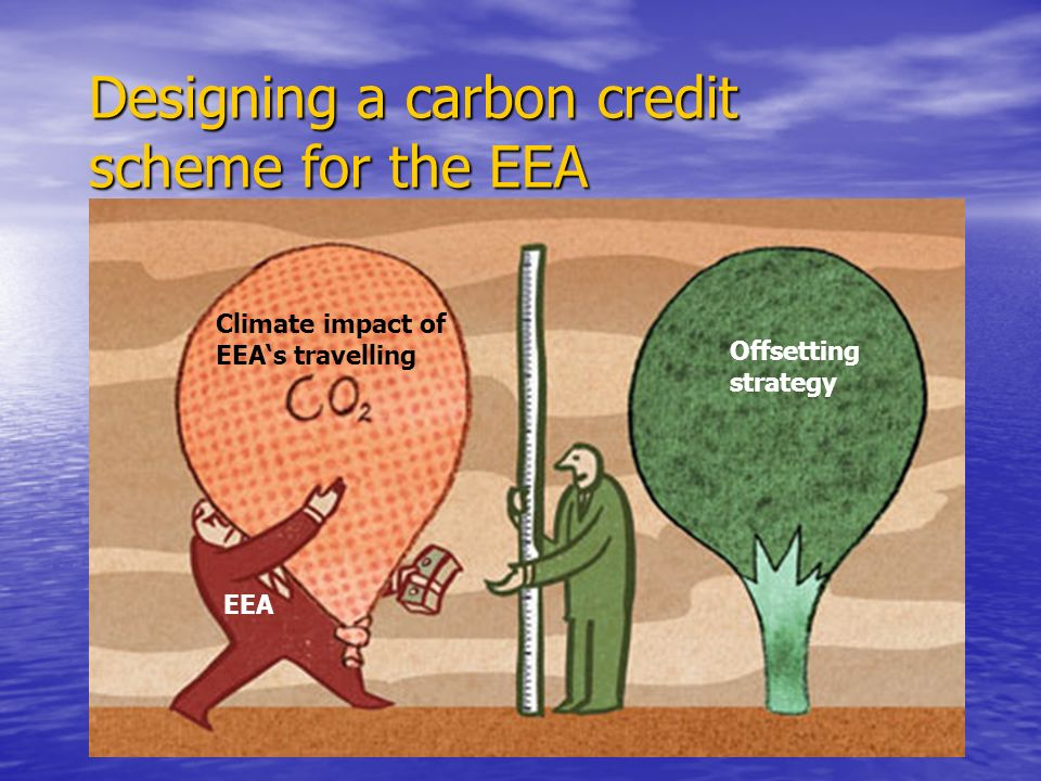 Designing a carbon credit scheme for the EEA EEA Offsetting strategy Climate impact of EEAs travelling