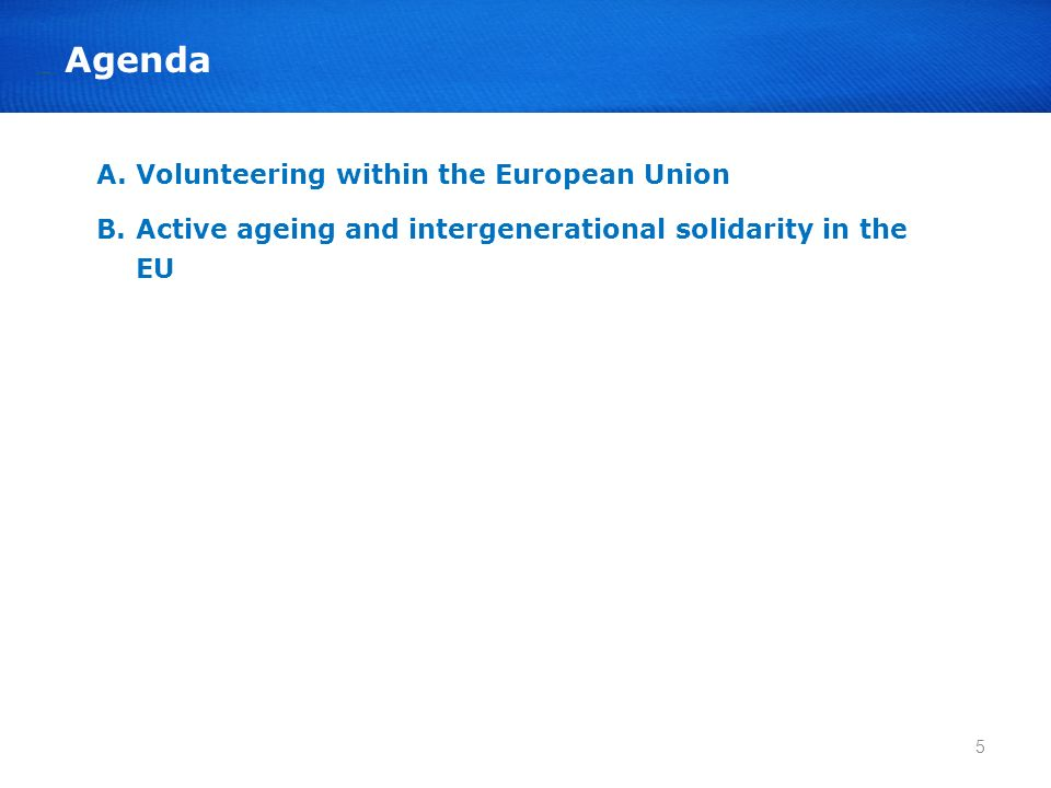 A. Volunteering within the European Union
