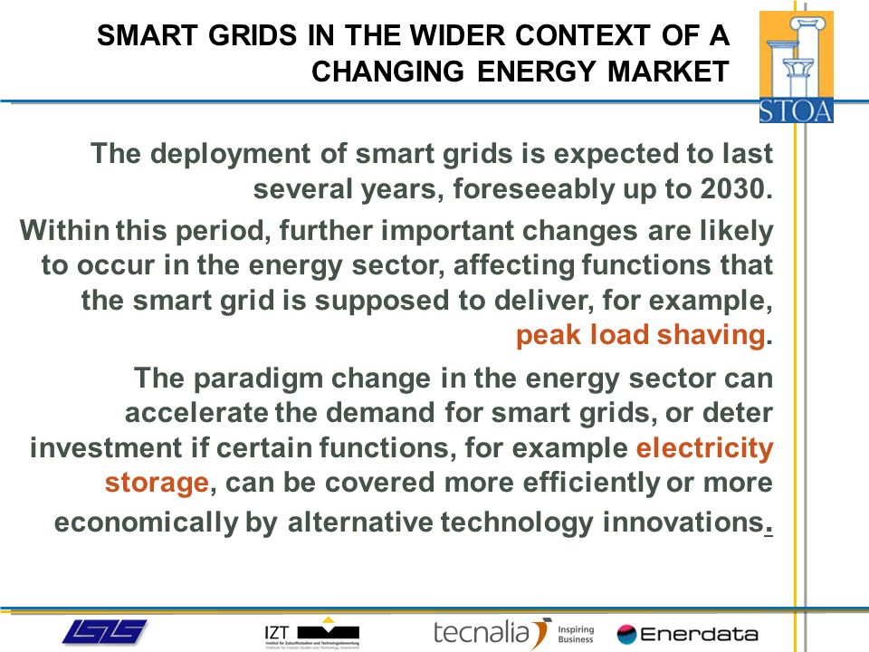 Which long-term trends in the energy sector are relevant for smart grid deployment.