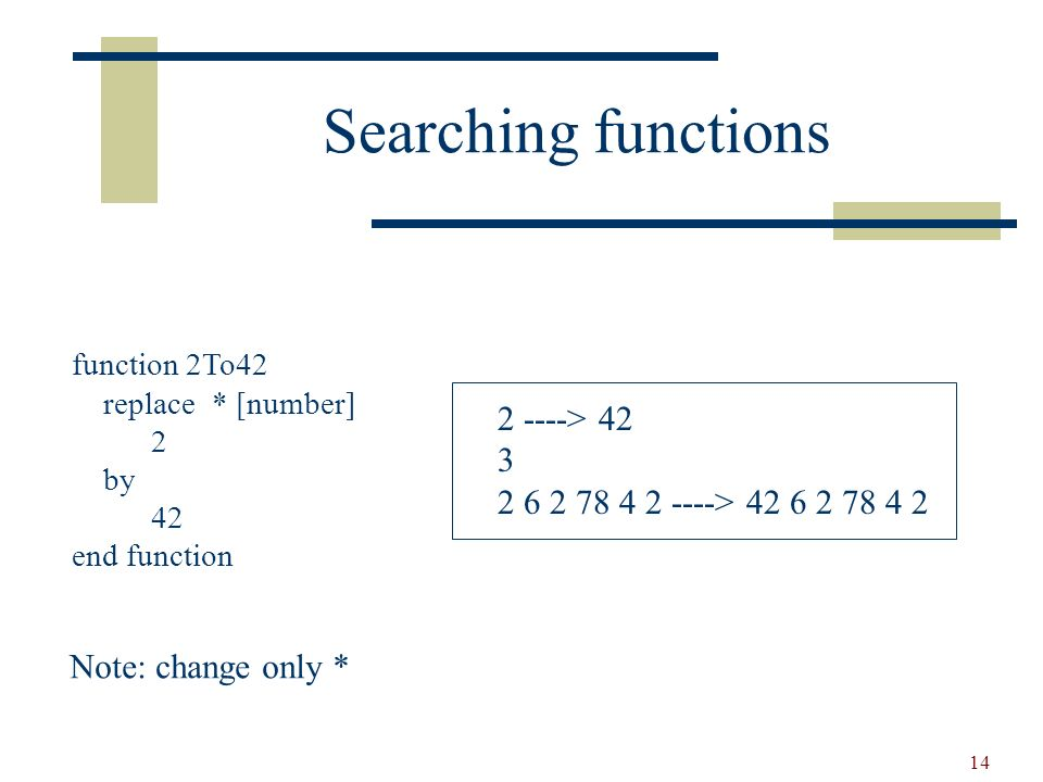15 Syntax of rules and functions Simplified and given in TXL.