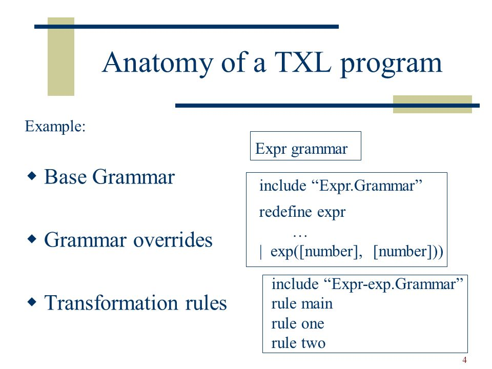 5 Specifying Lexical Forms Lexical forms specify how the input is partitionated into tokens.