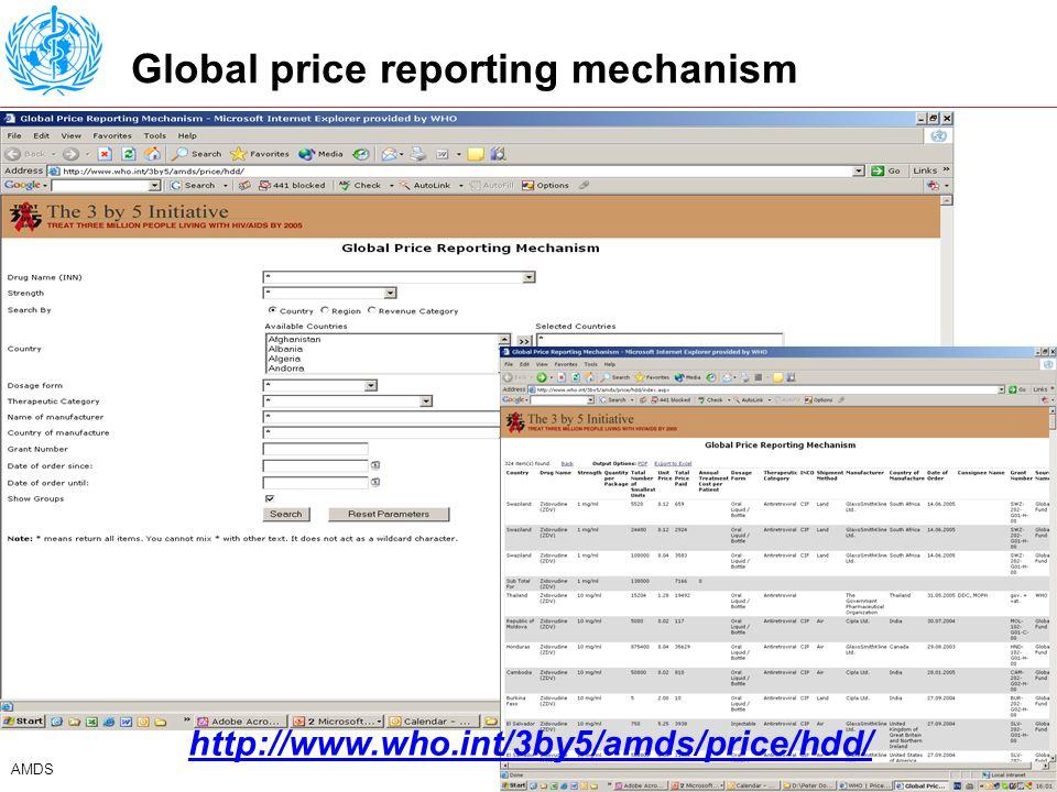 9 AMDS Quarterly summary report