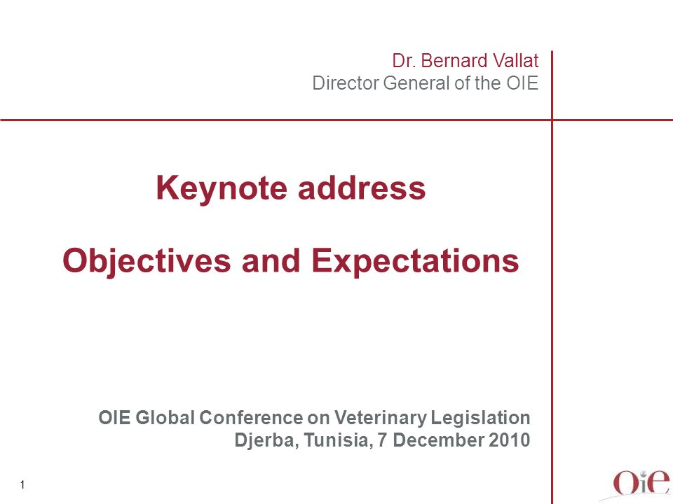 Introduction Background, OIE 5 th Strategic Plan and current initiatives Veterinary Legislation – a key element in the OIE PVS Pathway Objectives & expectations Contents 2