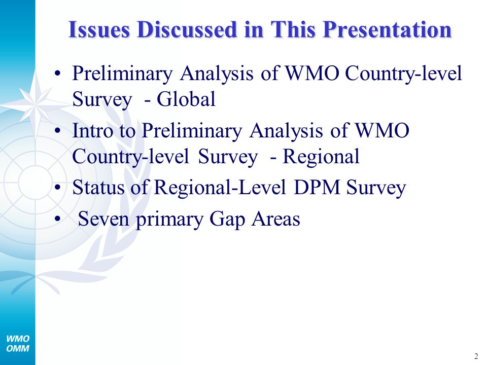 3 Mapping of Capacities, Gaps and Needs Country-level DPM Survey (Doc.