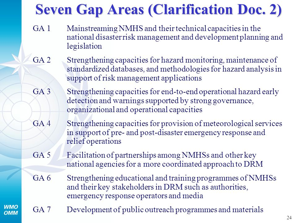 25 Patterns of disasters by natural hazards in WMO Regions