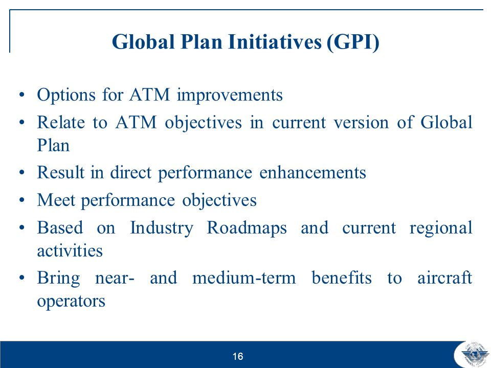 17 What is new in the revised Global Plan.