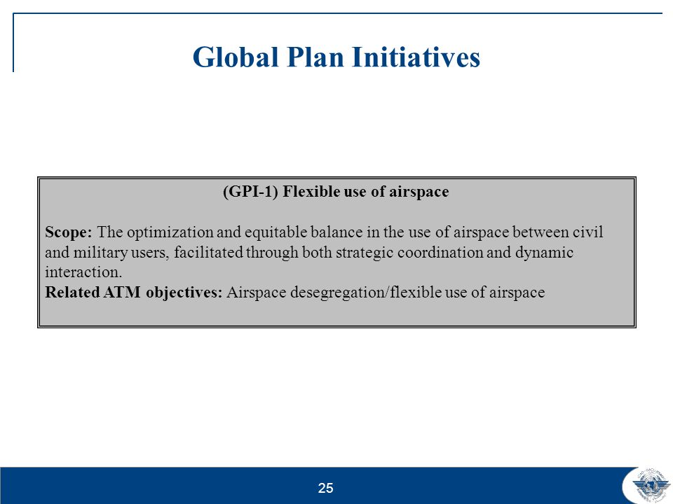 26 Global Plan Initiatives (GPI-9) Situational awareness Scope: Operational implementation of data link-based surveillance.
