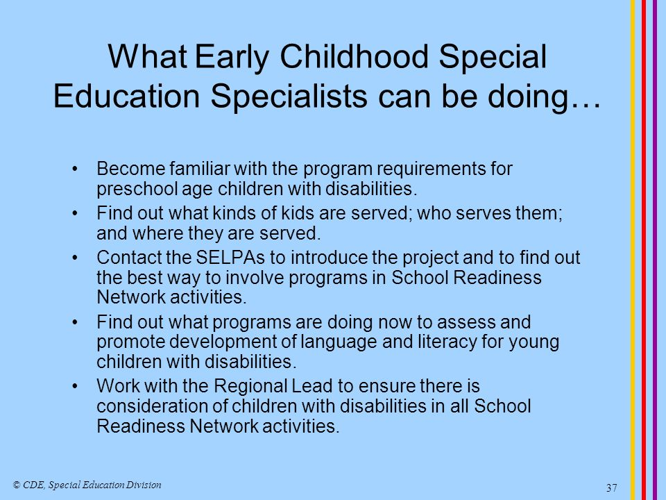 Statewide System of School Readiness Networks Topics and Issues Related to Language and Literacy for Children with Disabilities