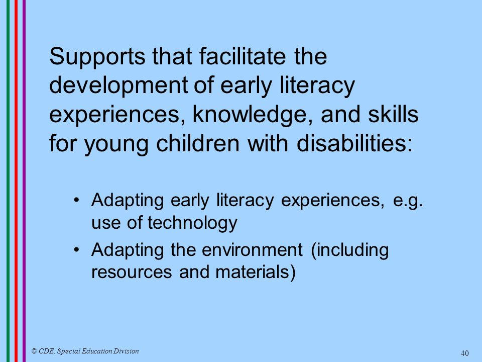 Statewide System of School Readiness Networks Resource Materials/Modules