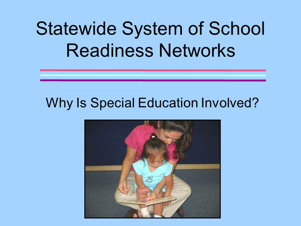 Why is Special Education Involved.