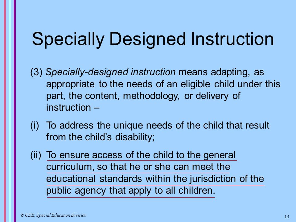 Services for Preschool Age Children with Disabilities How Special Education is Administered in California