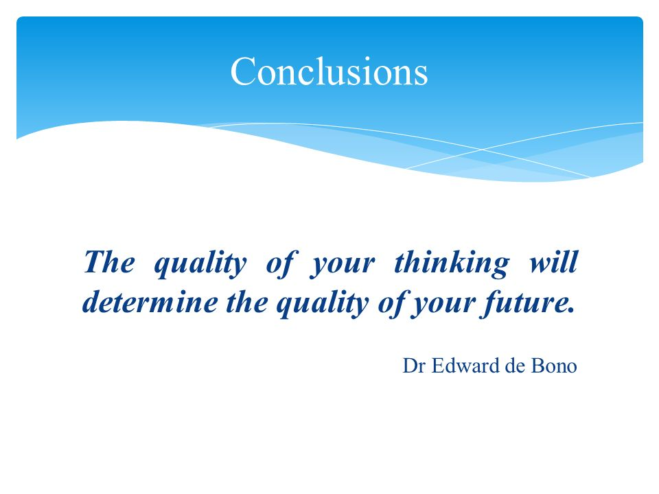 De Bono, E.(2007). CoRT 1 (Cognitive Research Trust).