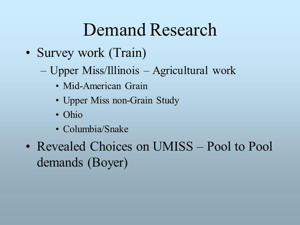 Demand Research Transportation demand by an originator is a supply decision by an originator.