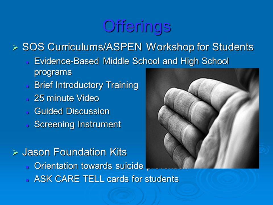 ASPEN Offerings cont.