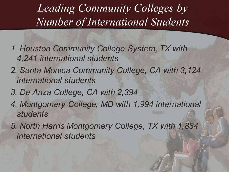 Leading Community College by Number of International Students 6.