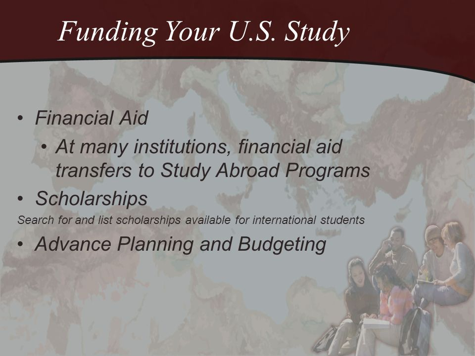 Funding Your U.S.Study The cost of living in the U.S.
