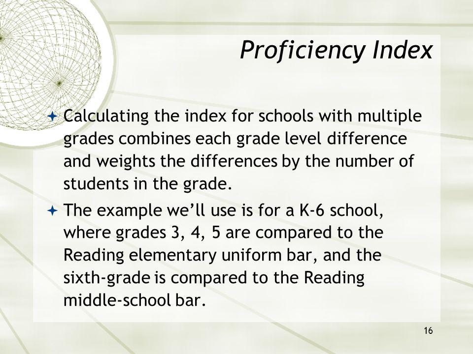 17 Example, K-6 Elementary Reading test, Low Income sub-group Facts: Grades 3-6 are tested.