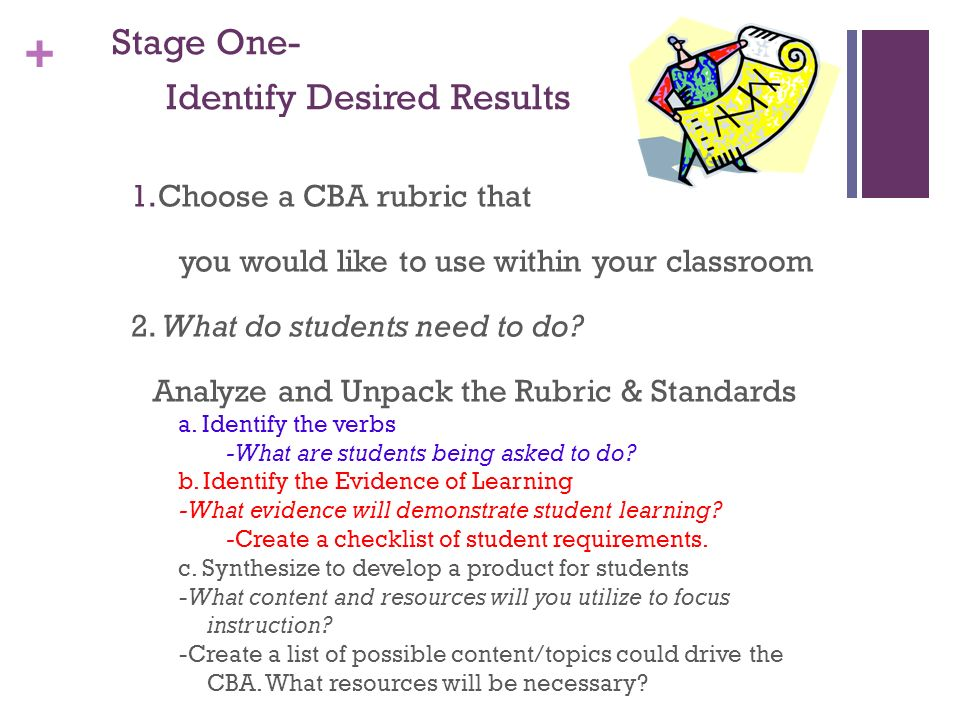 + Stage Two-Determine Evidence of Understanding 3.