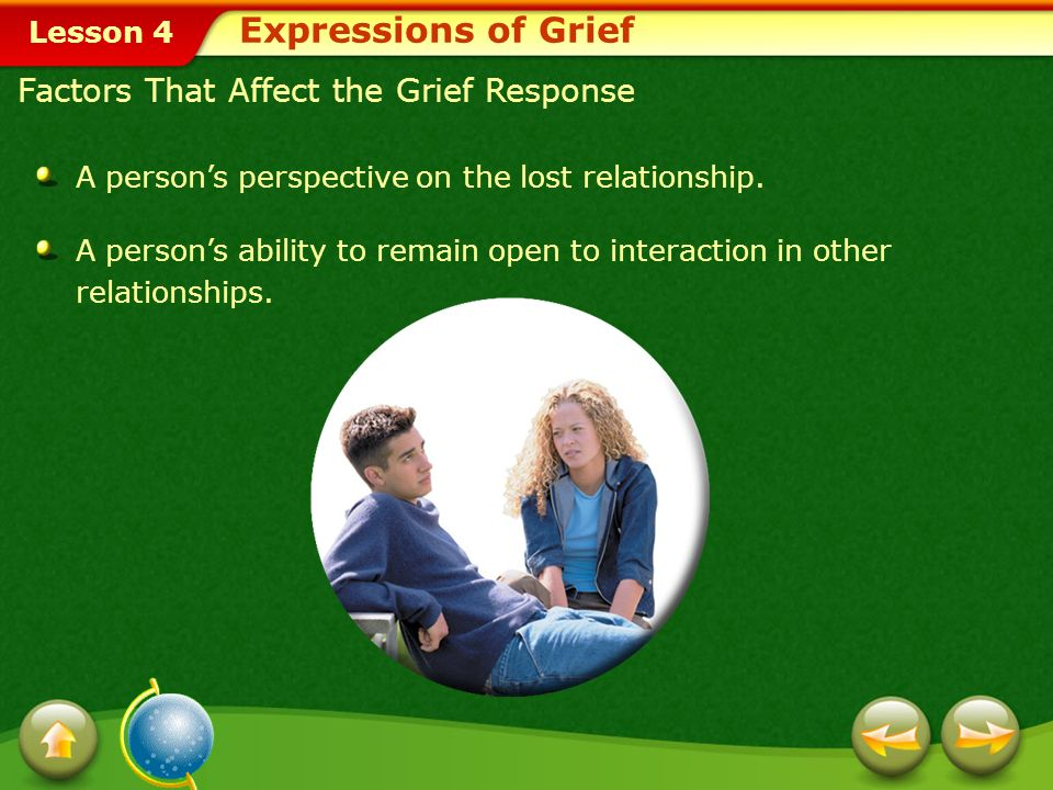Lesson 4 A persons perspective on the lost relationship.