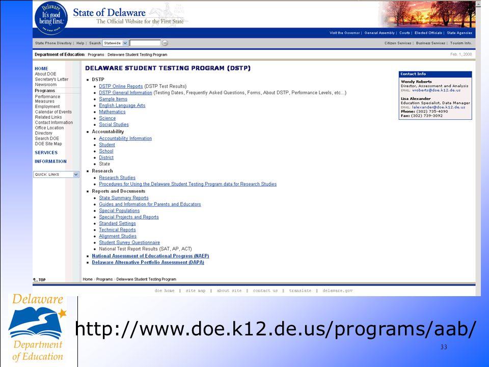 34 www.doe.k12.de.us/programs/aab/coordinator