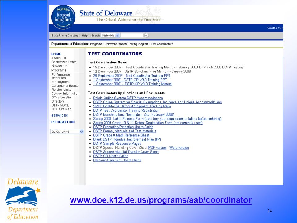 35 Grades 2-10 Label Request Sample Screen Allows selection of dist/school Requestors name mandatory Ids will now be validated