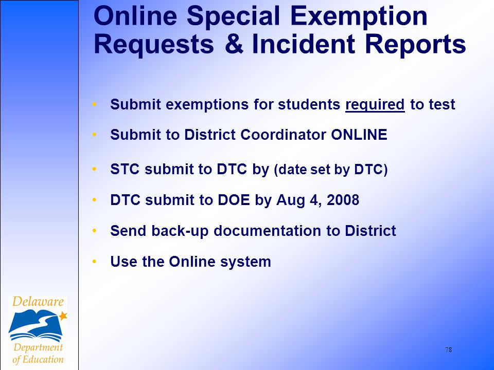79 Student Refusals Ship with SCORABLE documents. Submit Incident Report