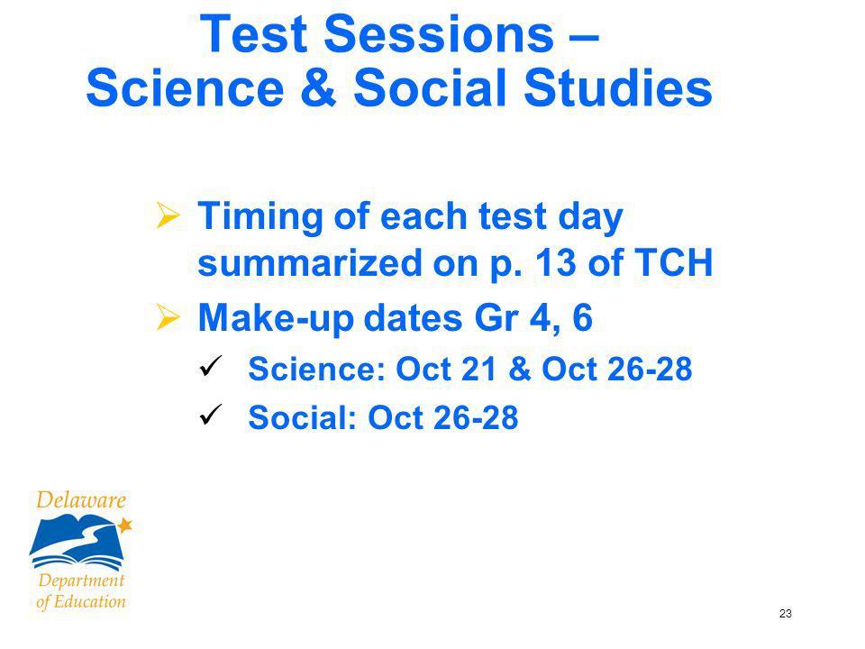 24 Grades 4 & 6 Science & Social Studies Page 13, TCH