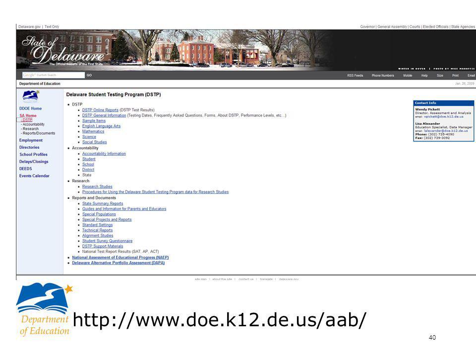 41 www.doe.k12.de.us/aab/coordinator