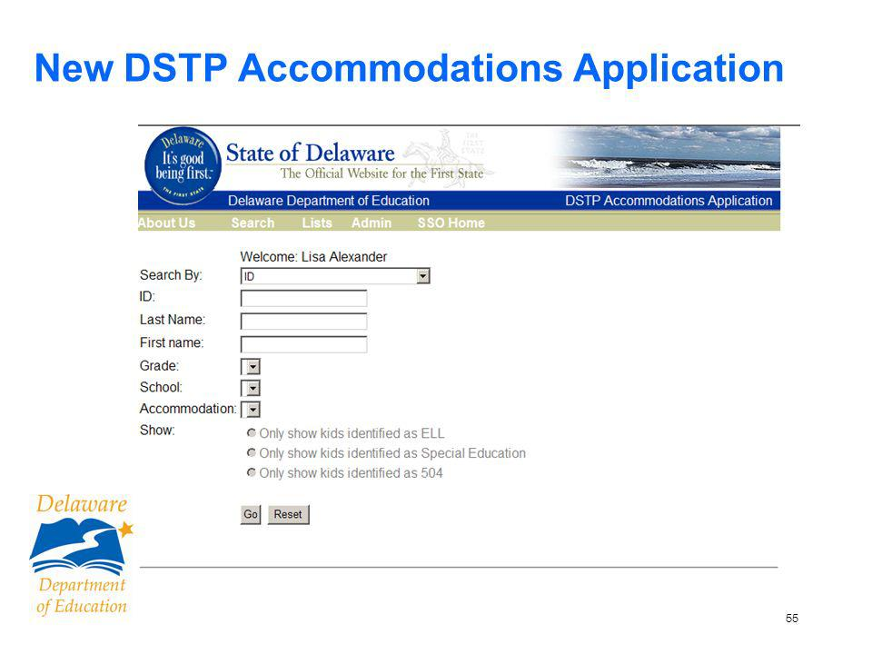 56 New DSTP Accommodations Application