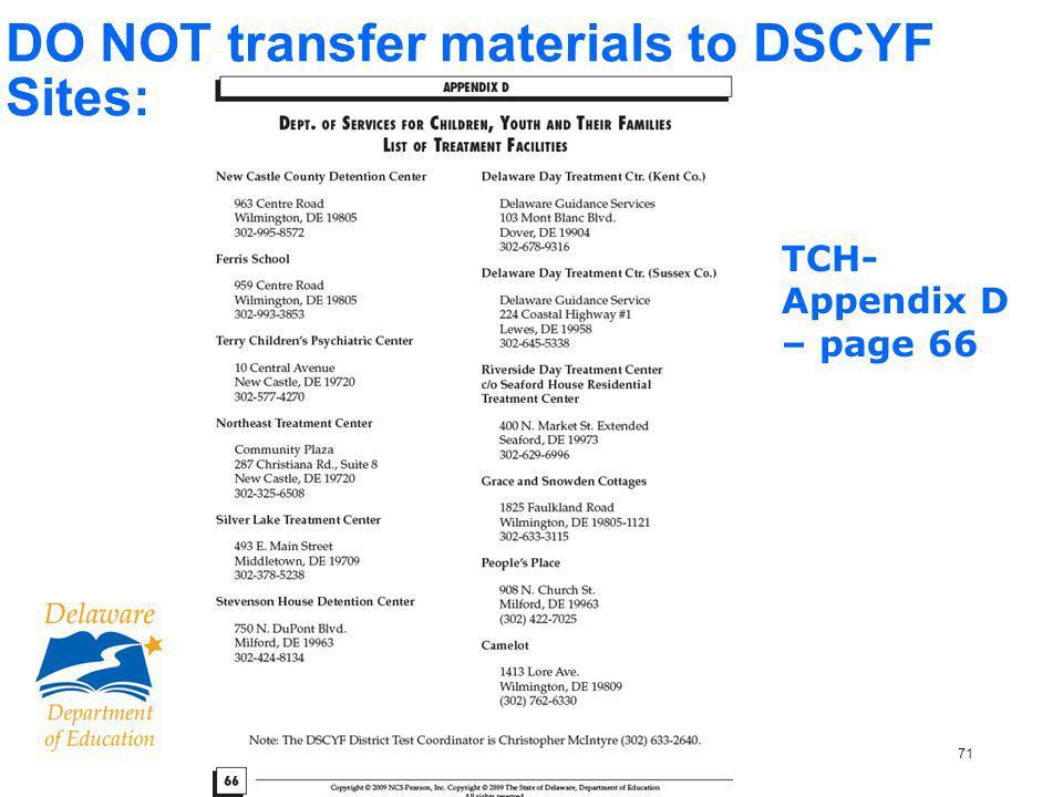 72 Transcribing Test Materials