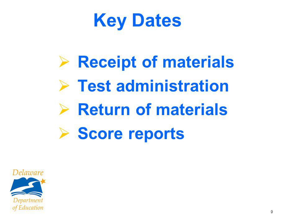 10 TCH Page 8 Key Dates – Grade 4 & 6 Science &Social Studies