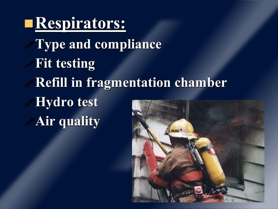 Structural Firefighting Structural Firefighting NFPA 1971 EMS EMS NFPA 1999 Hazardous materials Hazardous materials NFPA 1991, 1992
