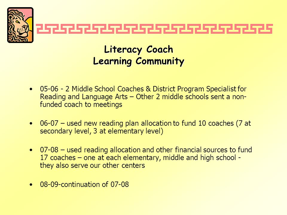 District Reading Plan Coaches.Coaches.