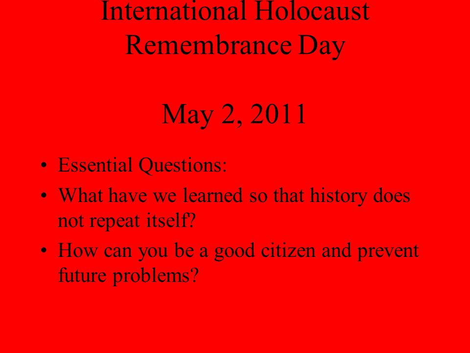 What is Holocaust Remembrance.