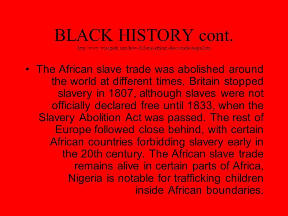 BLACK HISTORY VIDEO http://www.history.com/videos/origin s-of-black-history-month