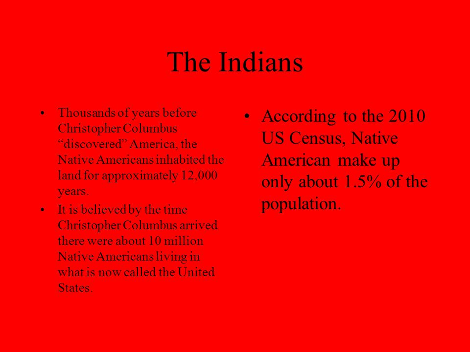 What Happened to the Indians.