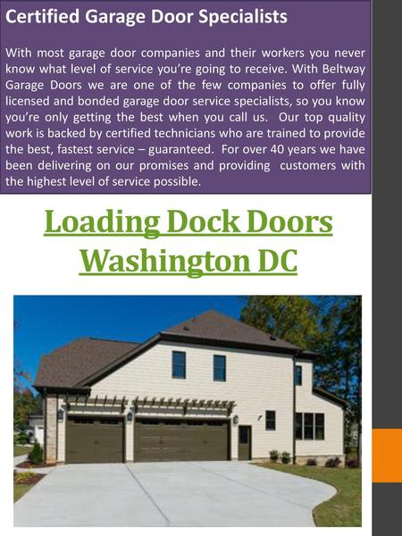 Loading Dock Doors Washington DC