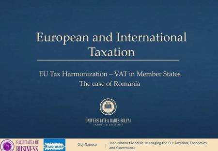 European and International Taxation