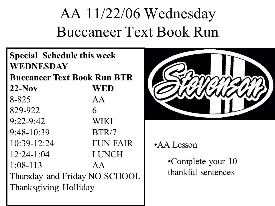 AA 11/27/06 Monday Turn in Field Trip Forms Review and Take Home Registration Manual and Timeline DEAR or SURF Complete any unfinished homework from the weekend