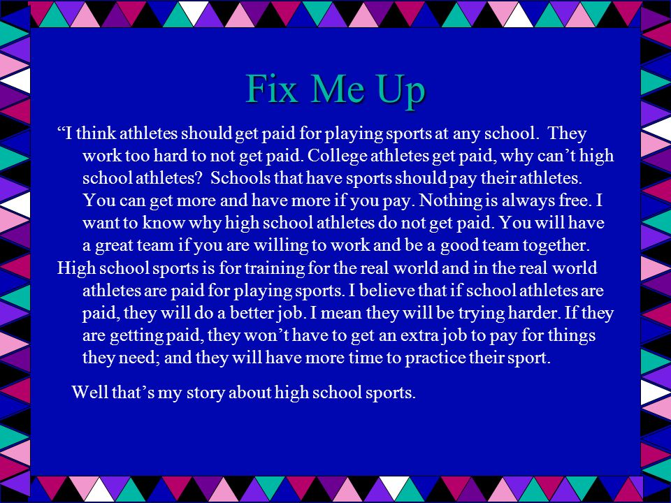Fix Me Up Good work habits make people get jobs easier and keep their jobs.